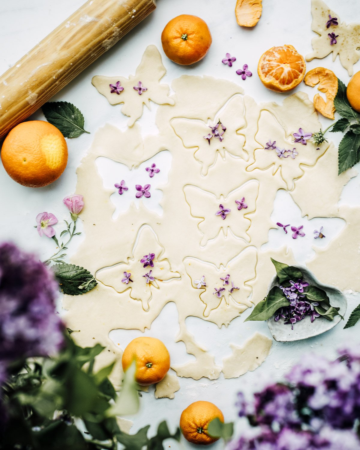 lilac orange sugar cookies