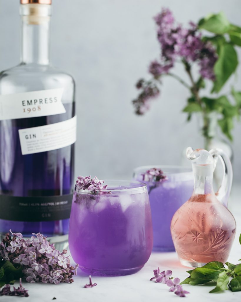 Lilac Gin Cocktail With Empress 1908