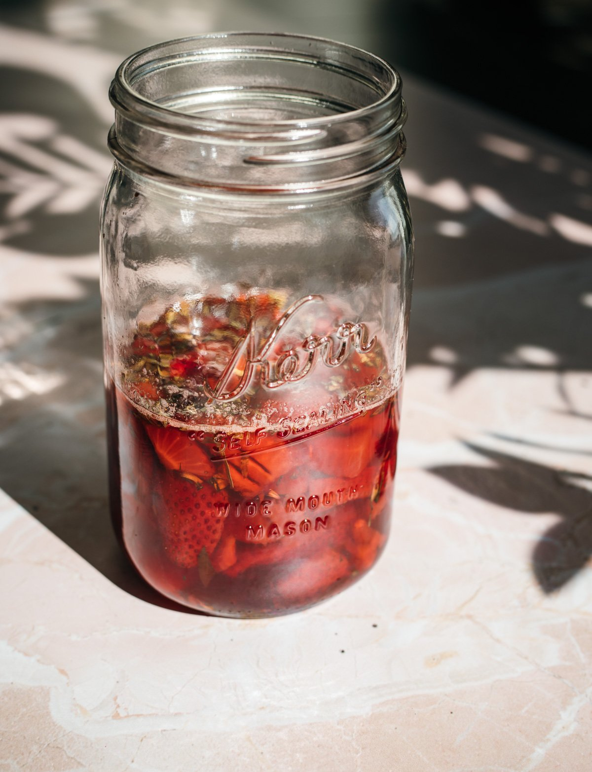 strawberry tarragon shrub