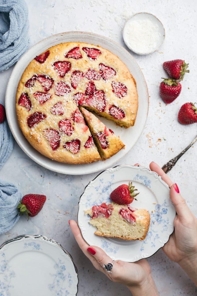 strawberry kuchen