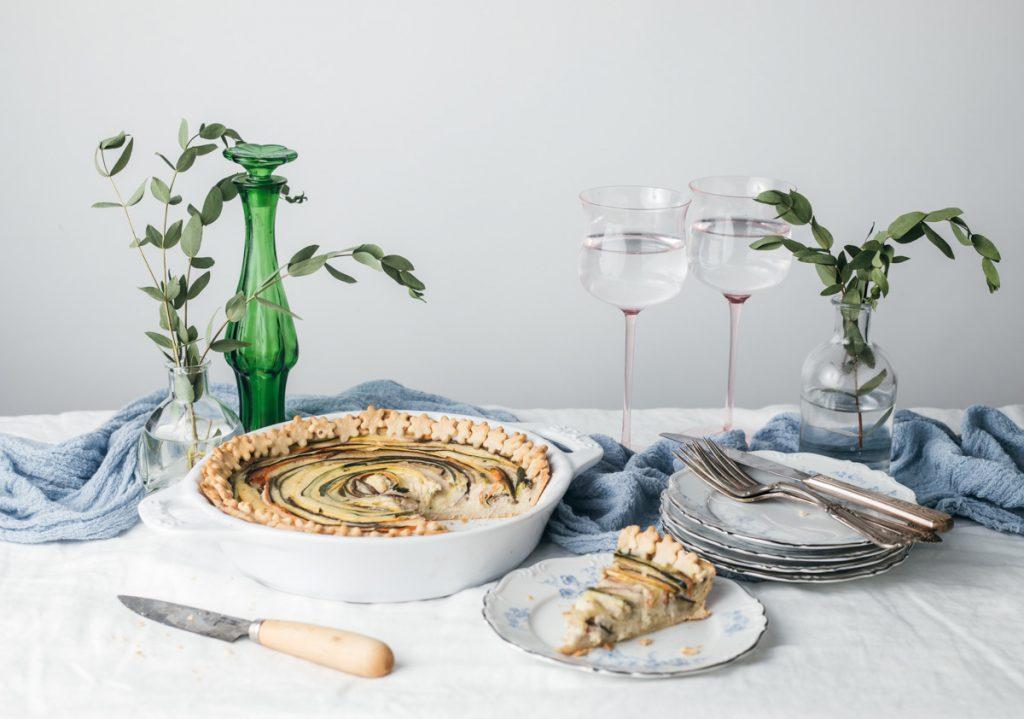zucchini parmesan tart