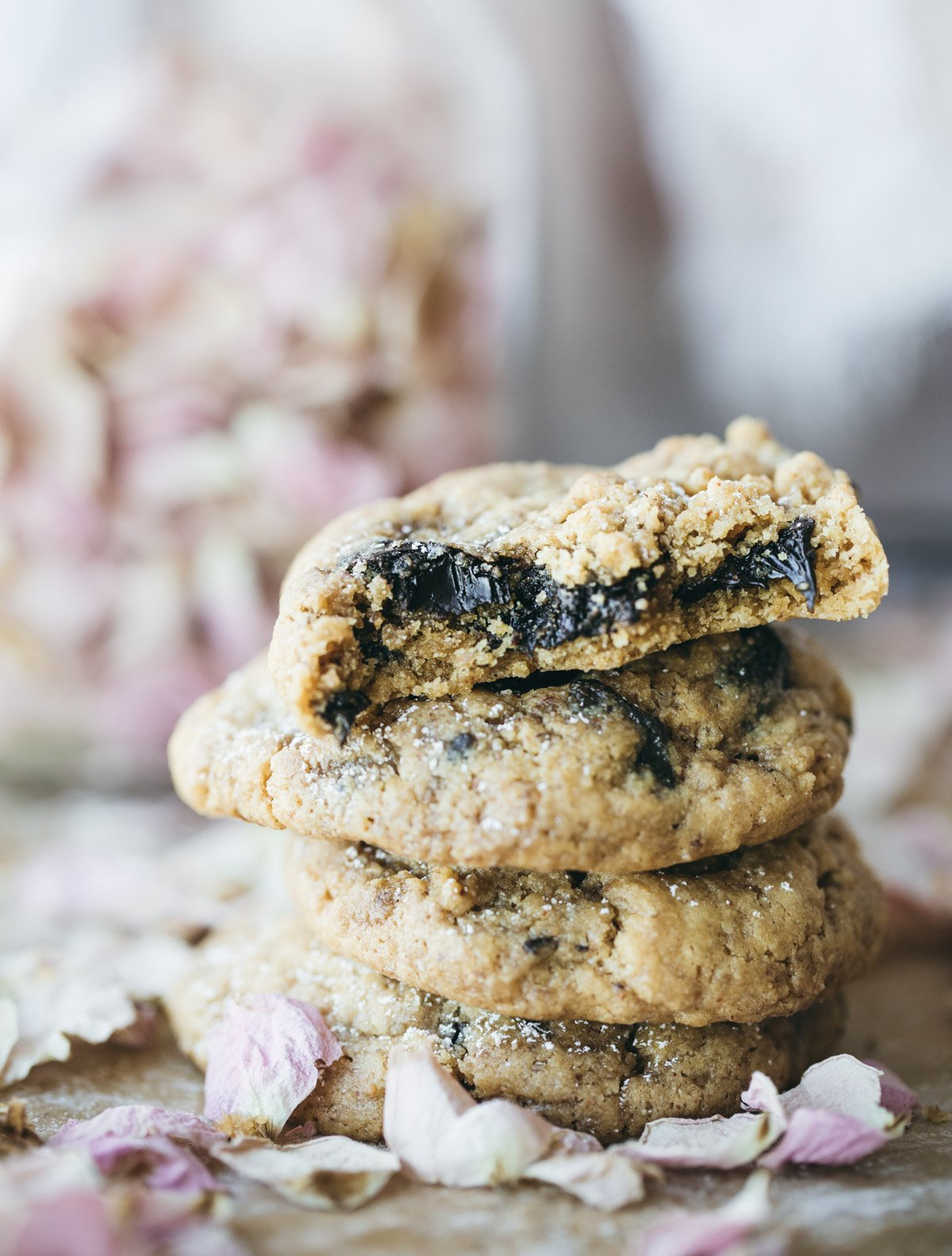 rose cardamom chocolate chip cookies