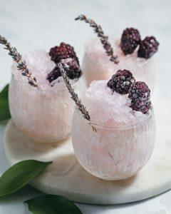 blackberry lavender gin snow cones