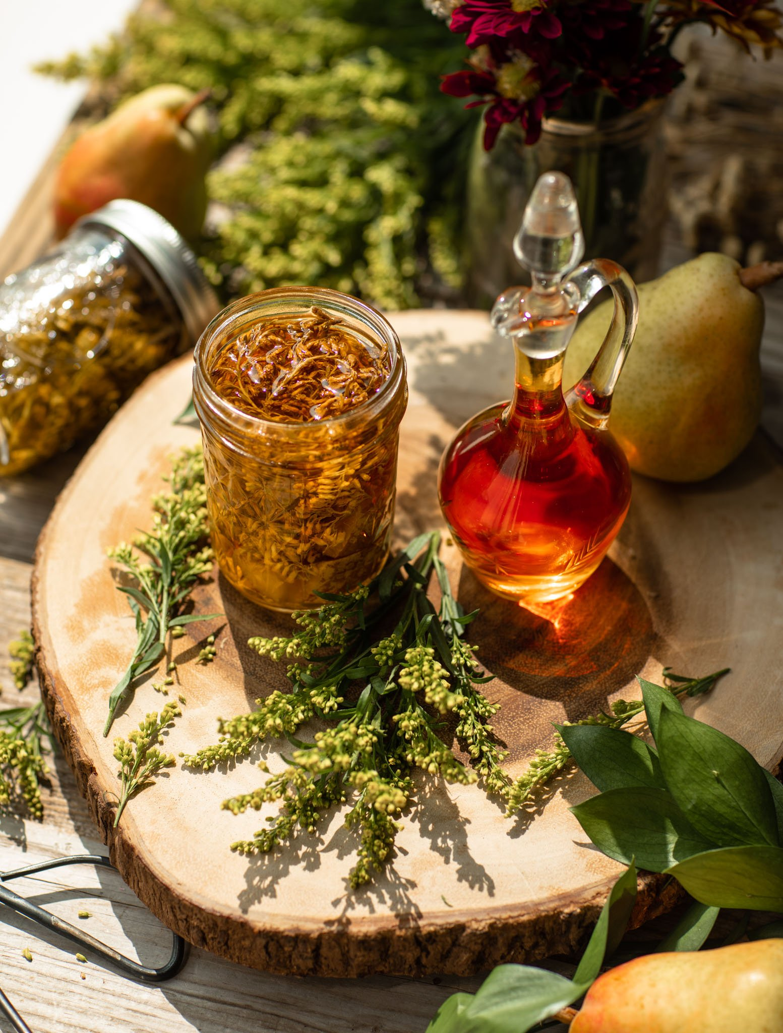 Goldenrod and Pear Cordial
