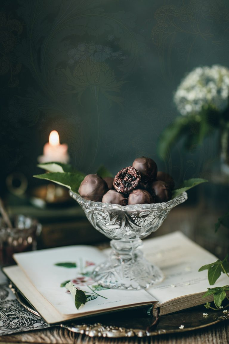 elderberry chocolate truffles